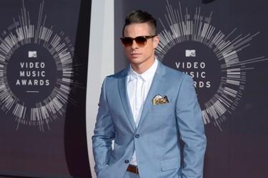 Casper Smart arrives at the 2014 MTV Music Video Awards in Inglewood, California August 24, 2014.  REUTERS/Kevork Djansezian (UNITED STATES - Tags: ENTERTAINMENT)(MTV-ARRIVALS)