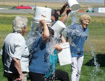 Ice Bucket Challenge at Whispering Winds. Greg Cowan photos/Pincher Creek Echo.