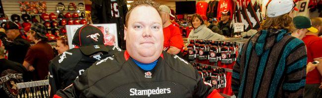 Jon Athon new Calgary Stampeders jersey Stamps Store McMahon Stadium