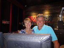 Danny Hooper and Sharon Mallon