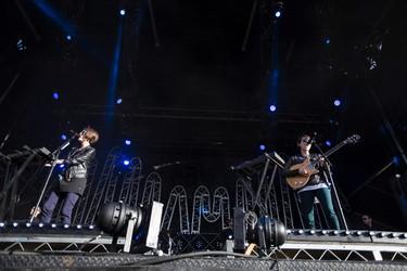 Tegan and Sara perform on stage during SONiC BOOM 2014 at Northlands in Edmonton, Alta., on Saturday, Aug. 30, 2014. The multi-artist show runs through Sunday, Aug. 31. Ian Kucerak/Edmonton Sun/ QMI Agency
