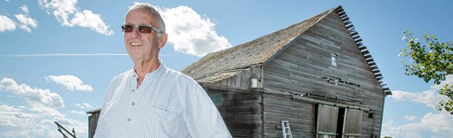 Bob Fielder almost-100-year-old barn south of Langdon