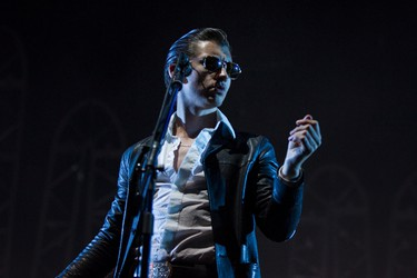 Alex Turner of Arctic Monkeys performs on stage during SONiC BOOM 2014 at Northlands in Edmonton, Alta., on Saturday, Aug. 30, 2014. The multi-artist show runs through Sunday, Aug. 31. Ian Kucerak/Edmonton Sun/ QMI Agency