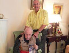 Second World War veteran Charles Roberts and writer Doug MacKenzie.