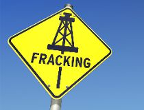 Generic fracking sign