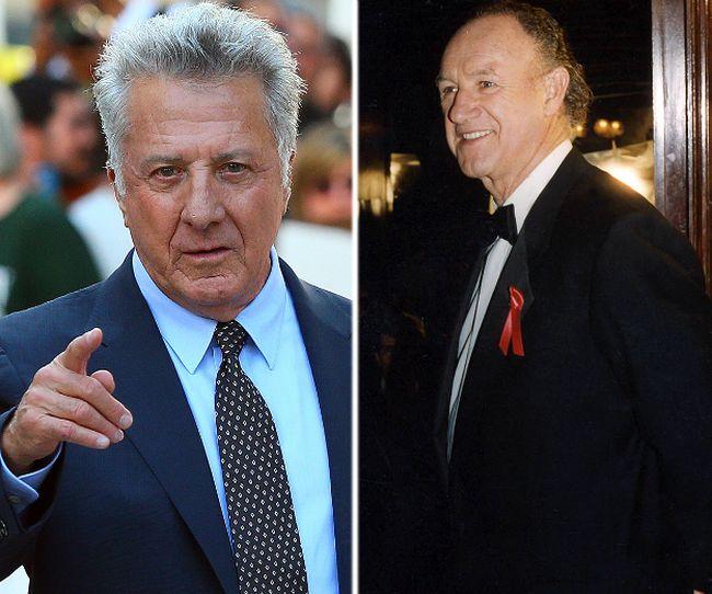 (L-R) Dustin Hoffman and Gene Hackman. (QMI/WENN.COM photos)
