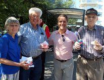 Morden-Winkler MLA, Cameron Friesen hosted a barbecue in Morden Sept. 4 and Winkler, Sept. 5. (JOEL NICKEL/Winkler Times)