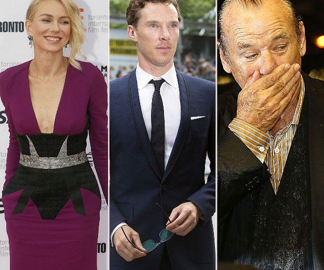 Naomi Watts, Benedict Cumberbatch and Bill Murray (QMI Agency photos)