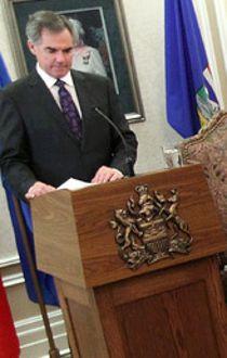 New Alberta Premier Jim Prentice introduces new his new cabinet members