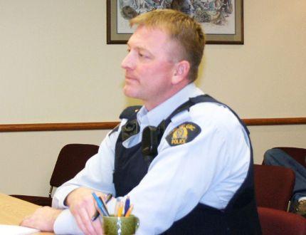 Teulon RCMP Cpl. Chris Johnson met with town council. (File photo)