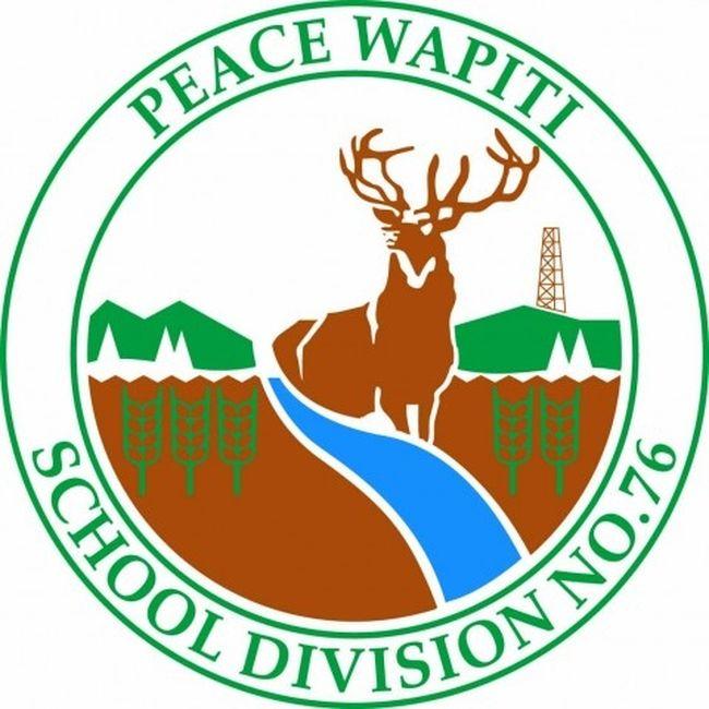 Peace Wapiti School Division logo. DHT file.