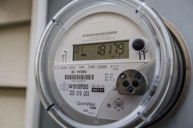 Hydro smart meter.  (File photo)