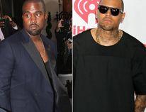 "Kanye West and Chris Brown (<A HREF=""http://www.wenn.com"" TARGET=""newwindow"">WENN.COM</a>)"
