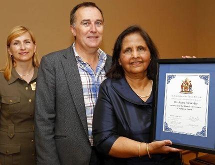 Karen Poste, Neil Ellis and Dr. Aruna Alexander LUKE HENDRY/The Intelligencer