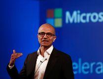 Microsoft CEO Satya Nadella addresses the media during an event in New Delhi Sept. 30, 2014. REUTERS/Adnan Abidi