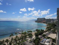 View along the coast of Oahu from the balcony of the Waikiki Beach Marriott in Honolulu. LANCE HORNBY/TORONTO SUN