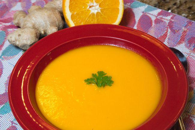 Carrot, Orange and Ginger Soup. (DEREK RUTTAN/QMI AGENCY)