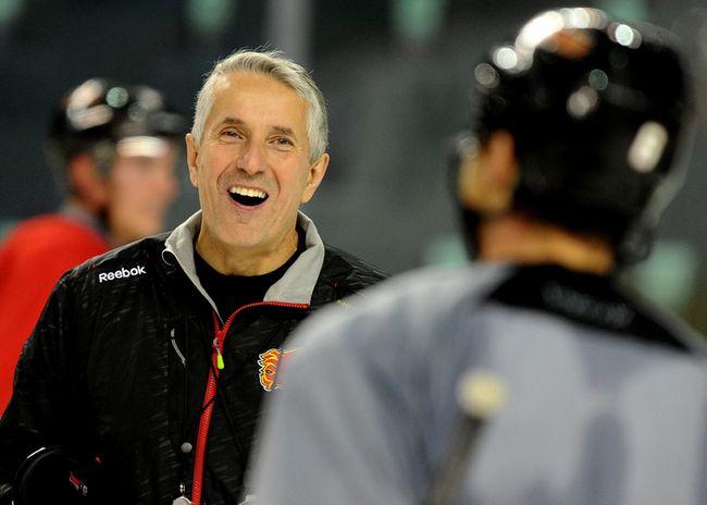 Calgary Flames head coach Bob Hartley at training camp at the Scotiabank Saddledome on October 1, 2014. (Stuart Dryden/Calgary Sun/QMI Agency)