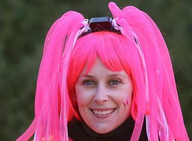 Sabrina Lee smiles during the CIBC Run for the Cure in Winnipeg, Man. Sunday October 05, 2014. Brian Donogh/Winnipeg Sun/QMI Agency