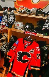 Flames Locker Room