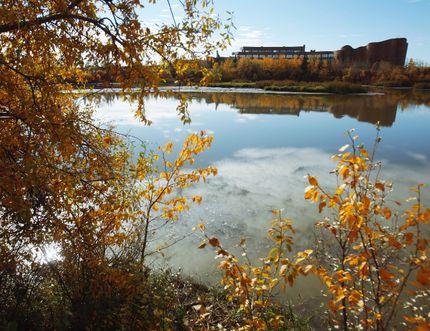 The Grande Prairie Regional College is seen from across the Bear Creek Reservoir in Grande Prairie, Alberta on Thursday, October 9, 2014. TOM BATEMAN/DAILY HERALD TRIBUNE/QMI AGENCY