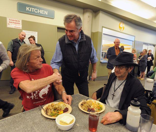 Alberta Premier Jim Prentice Thanksgiving Calgary Drop In Centre