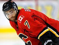 The Flames' TJ Brodie. (AL CHAREST/Calgary Sun)
