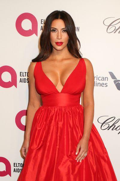 """2014: Kim Kardashian at the 22nd Annual Elton John AIDS Foundation Academy Awards party in West Hollywood, California. (FayesVision/<A HREF=""""http://www.wenn.com"""" TARGET=""""newwindow"""">WENN.COM</a>)"""