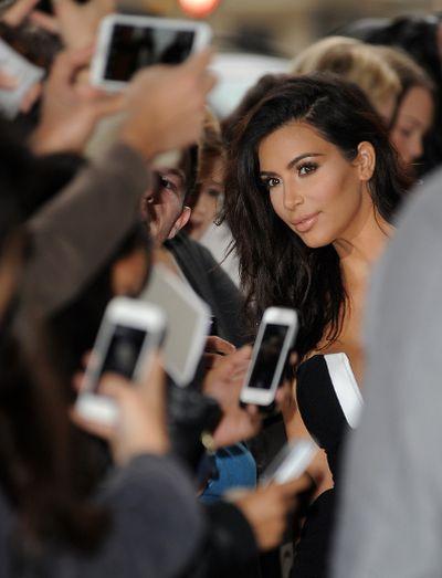"""2014: Kim Kardashian pictured at Radio 1 in London, England. (<A HREF=""""http://www.wenn.com"""" TARGET=""""newwindow"""">WENN.COM</a>)"""