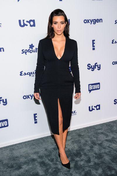 "2014: Kim Kardashian at NBCUniversal Upfronts in New York City. (C.Smith/<A HREF=""http://www.wenn.com"" TARGET=""newwindow"">WENN.COM</a>)"