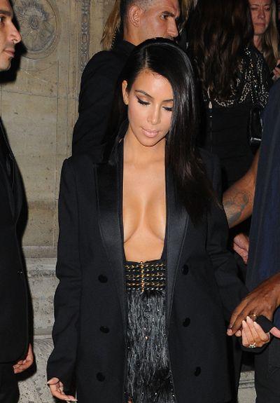 """2014: Kim Kardashian at Paris Fashion Week in Paris, France. (<A HREF=""""http://www.wenn.com"""" TARGET=""""newwindow"""">WENN.COM</a>)"""