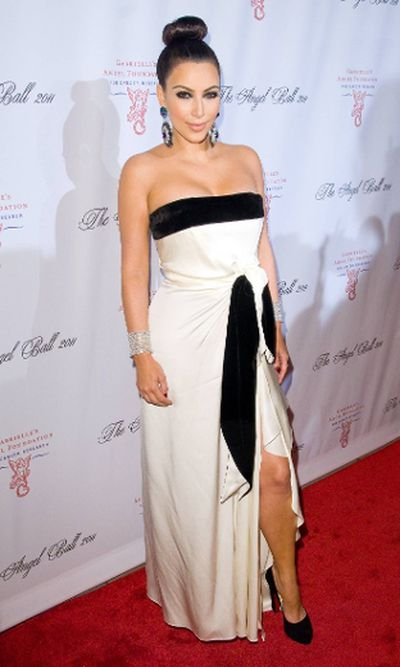 "2011: Kim Kardashian at the Angel Ball to Benefit Gabrielle's Angel Foundation in New York City. (Ivan Nikolov/<A HREF=""http://www.wenn.com"" TARGET=""newwindow"">WENN.COM</a>)"