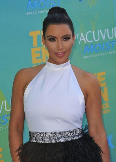 "2011: Kim Kardashian at the 2011 Teen Choice Awards in Universal City, California. (Adriana M. Barraza/<A HREF=""http://www.wenn.com"" TARGET=""newwindow"">WENN.COM</a>)"