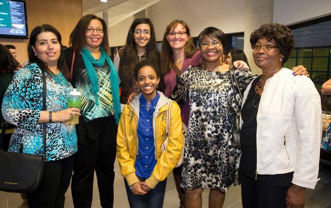 Ena Chams, Cecilia Leblanc, Medina Chams, Sara Mohammed (front), Erin Rankin Nash, Erica Flynn, Liz Akano and Vilna Francois. (CRAIG GLOVER, The London Free Press)