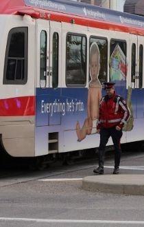 C-Train hits pedestrian