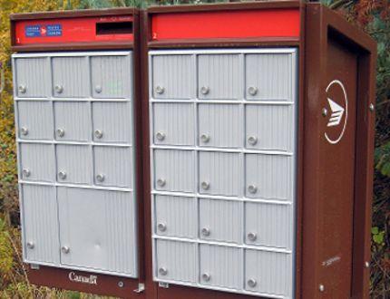 Canada Post community mailboxes. (MONTE SONNENBERG/QMI Agency)