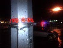 Poppies on light pole
