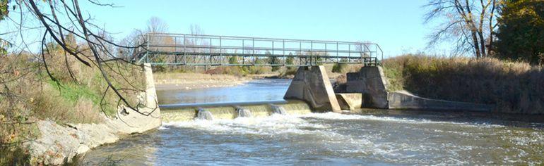 The Lockerby Dam, located in rural Arran Elderslie, between Paisley and Chesley.