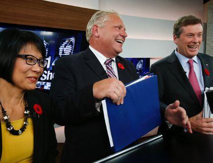 Olivia Chow, John Tory and Doug Ford