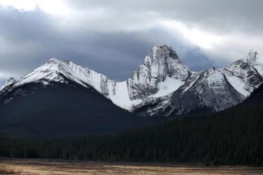 Fresh snow in Spray Lakes Provincial Park southwest of Calgary, Alta., on Wednesday October 22, 2014. Mike Drew/Calgary Sun/QMI Agency