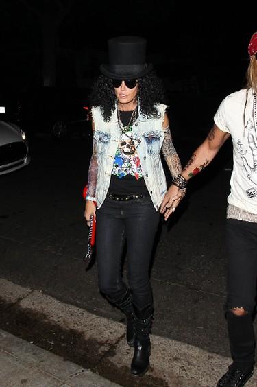 Cindy Crawford went as Slash for a Halloween party last year. (WENN.com)
