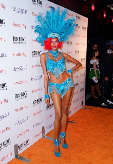 Jessica White went as a show girl for Heidi Klum's party last year. (Alberto Reyes/WENN.com)