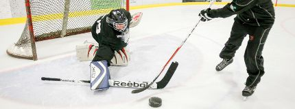 Mark DeMontis blind hockey Calgary