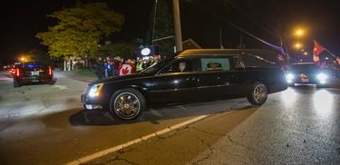 The casket of slain soldier  Cpl. Nathan Cirillo  arrives in Markey-Dermody Funeral Home in Hamilton, Ont. on Friday October 24, 2014. Ernest Doroszuk/Toronto Sun/QMI Agency