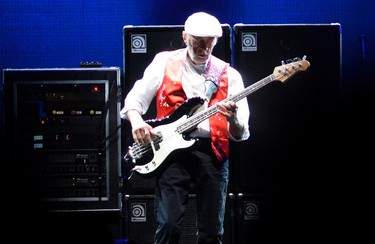 John McVie of Fleetwood Mac performs at the Canadian Tire Centre in Ottawa on Sunday, Oct. 26, 2014. Matthew Usherwood/ Ottawa Sun/ QMI Agency