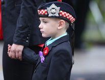 Marcus Cirillo, 5, attends the funeral for his father, Cpl. Nathan Cirillo. (ERNEST DOROSZUK/Toronto Sun)