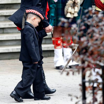 Cpl. Cirillo's son Marcus Cirillo leaves the church.The funeral procession for Cpl. Cirillo draws more than 2,000 military personnel  Hamilton , Ont. on Tuesday October 28, 2014. Craig Robertson/Toronto Sun/QMI Agency