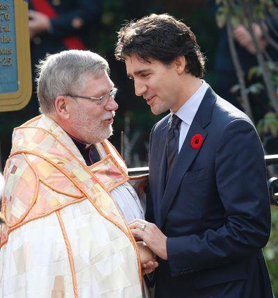 Justin Trudeau. Funeral for CPL Cirillo  in Hamilton , Ont. on Tuesday October 28, 2014. Craig Robertson/Toronto Sun/QMI Agency