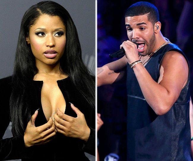 Nicki Minaj and Drake. (Reuters file photos)