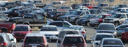 SAIT parking lot cars